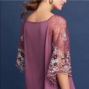 Alexi+Kim NWT purple top Lace floral sleeve size M